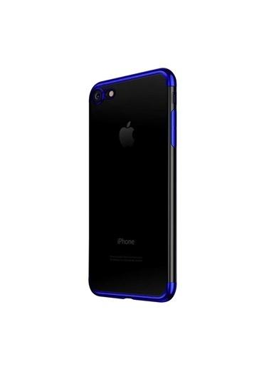 Microsonic iPhone 7 Kılıf Skyfall Transparent Clear  Mavi